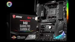 MSI B450 Gaming Pro Carbon AC Sockel AM4 AMD DDR-4 Mainboard auspacken (unboxing)
