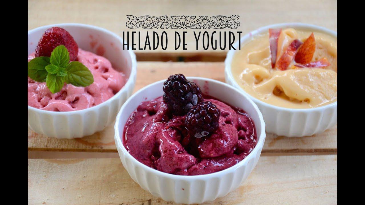 Como preparar helado de yogurt natural casero