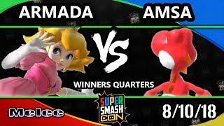 SSC 2018 SSBM - [A] | Armada (Peach) Vs. VGBC | aMSa (Yoshi) - Smash Melee Winners Quarters