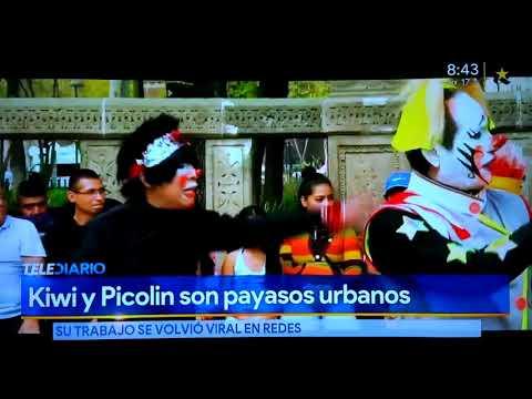 Reportaje De Los Payasos Pikolin Y Kiwi En El Canal De Multimedios