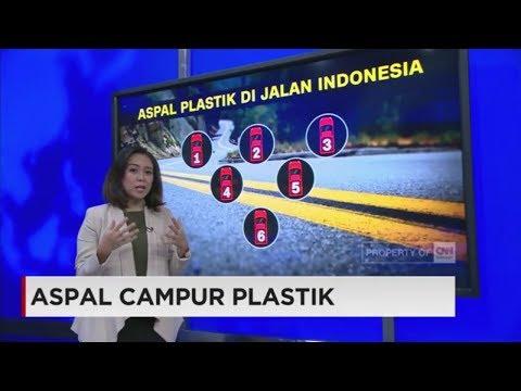 Aspal Campur Plastik Mulai Diuji Coba di Indonesia