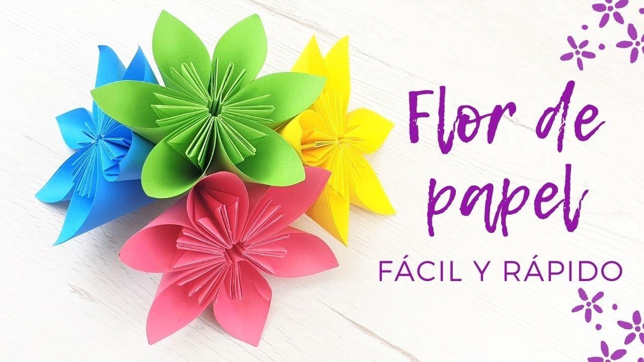 🌸 Cómo hacer una flor de papel fácil y rápido