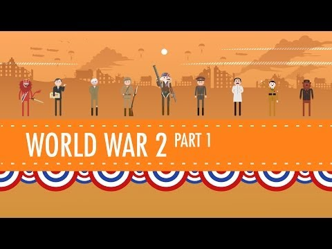 World War II Part 1: Crash Course US History #35: You can directly support Crash Course at https://www.patreon.com/crashcourse Subscribe for as little as $0 to keep up with everything we're doing. Free is nice, but if you can afford to pay a little every month, it really helps us to continue producing this content.  In which John Green teaches you about World War II, a subject so big, it takes up two episodes. This week, John will teach you how the United States got into the war, and just how involved America was before Congress actually declared war. John will actually talk a little about the military tactics involved, and he'll get into some of the weaponry involved, specifically the huge amount of aerial bombing that characterized the war, and the atomic bombs that ended the war in the Pacific.  Hey teachers and students - Check out CommonLit's free collection of reading passages and curriculum resources to learn more about the events of this episode. Americans entered World War II after the attack on Pearl Harbor: https://www.commonlit.org/texts/the-attack-on-pearl-harbor A call for soldiers led to an early civil rights victory, the Tuskegee Airmen: https://www.commonlit.org/texts/tuskegee-airmen America led the invasion of Normandy that would end the war, and American troops helped to liberate surviving Jews from Nazi concentration camps throughout Europe: https://www.commonlit.org/texts/liberation-of-nazi-concentration-camps  Follow us! @thecrashcourse @realjohngreen @crashcoursestan @raoulmeyer @br8dybrunch