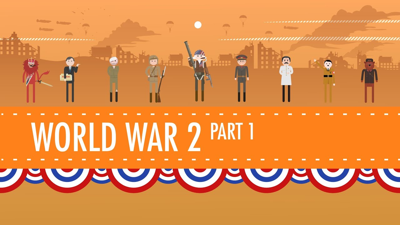 small resolution of World War II Part 1: Crash Course US History #35 - YouTube