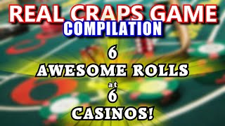 AMAZING 22-32+ ROLLS at 6 DIFFERENT CASINOS! - Live Craps Game #44 - Inside the Casino