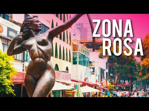 Walk Around Zona Rosa - Mexico City