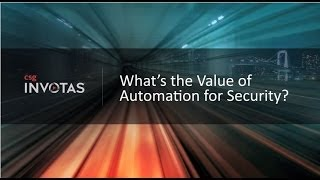 The Value of Automation for Security