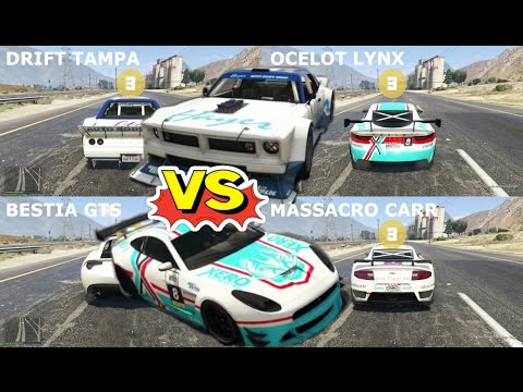 GTA 5 | Drift Tampa vs Ocelot Lynx vs Massacro | Aceleración, Velocidad y Manejo