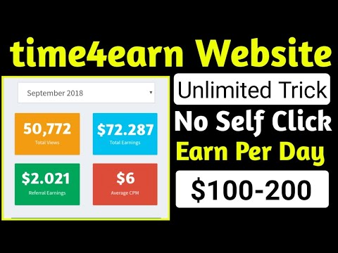 time4earn website Unlimited Trick no self click | earn $100-200 | all copy and paste websites trick