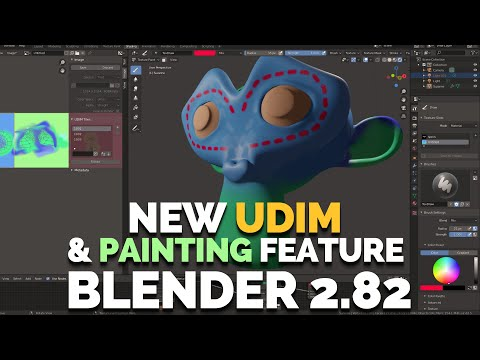 BLENDER 2.82 - NEW UDIM & TEXTURE PAINTING FEATURES