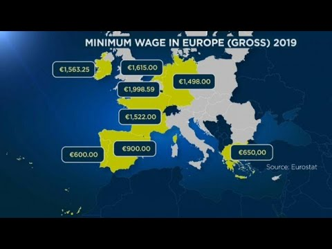 El salario mínimo en Europa sigue la tendencia al alza