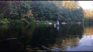 Farmington River fishing / camping trip.
