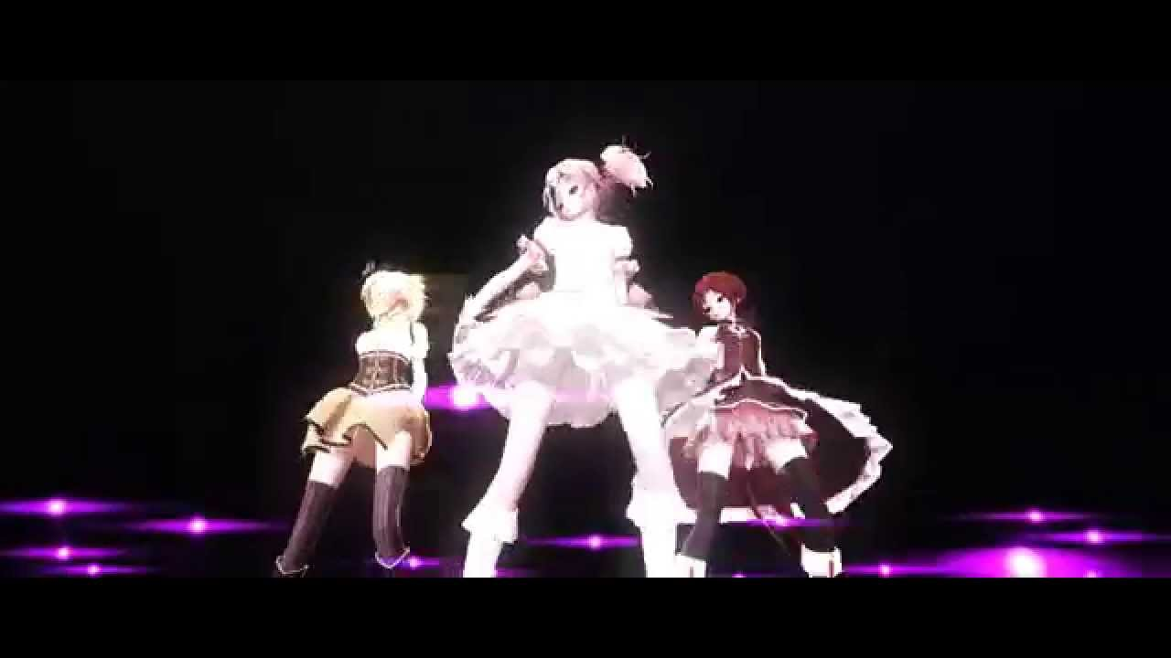 MMD Madoka/Mami/Kyouko - Girls Miss MIlka - YouTube