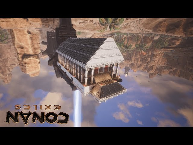 Conan Exiles - How to Build Upside Down, Temple of Gravity