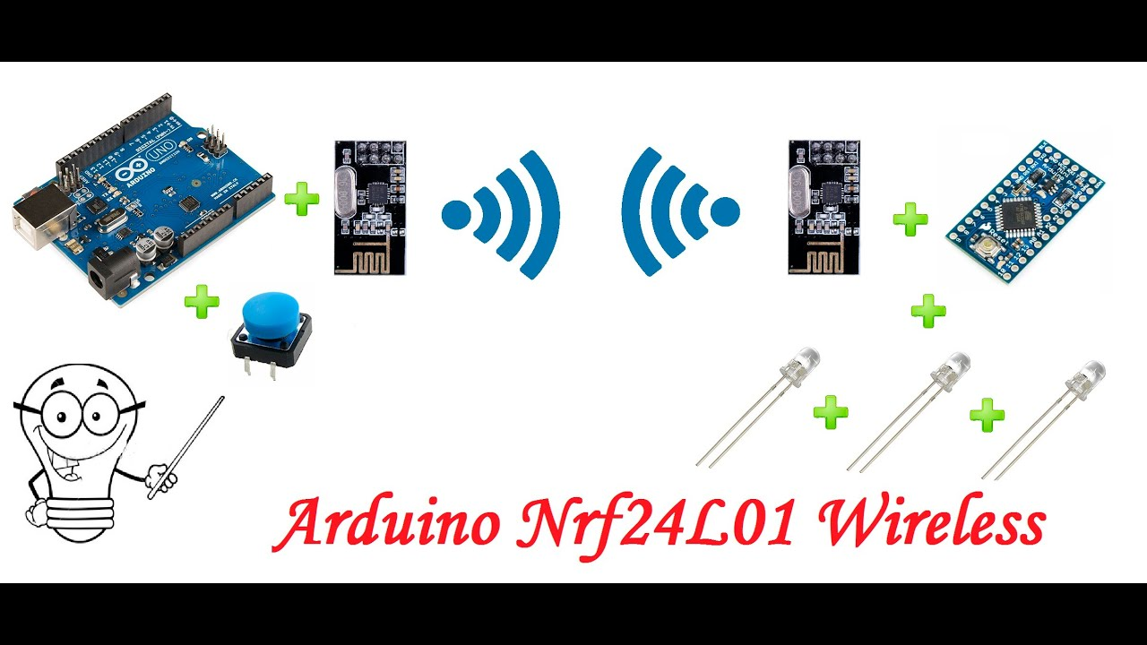 Arduino uno pro mini led buton nrf l kablosuz