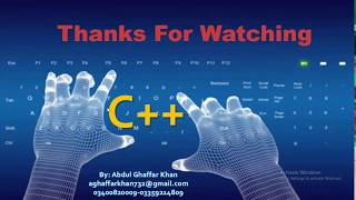 Learn C++ Language Basic To Advance in Urdu-Hindi lecture 3