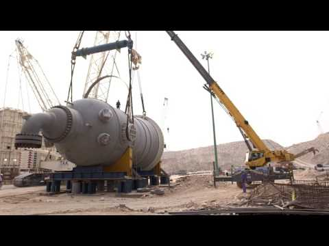 RAMPCO Group - BUSHEHR PETROCHEMICAL COMPANY  800ton Reactor Instalation