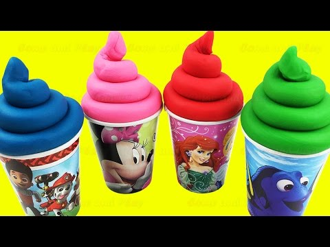 Thumbnail: Play Doh Ice Cream Surprise Toys Finding Dory Pooh My Little Pony Hello Kitty Eggs Learn Colors
