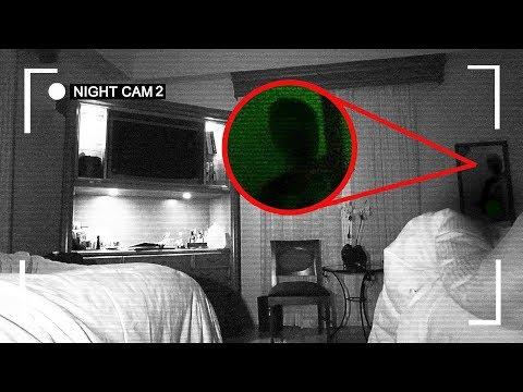 (OMG) I RECORDED MYSELF SLEEPING IN A HAUNTED HOTEL ROOM