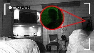 (OMG) I RECORDED MYSELF SLEEPING IN A HAUNTED HOTEL ROOM