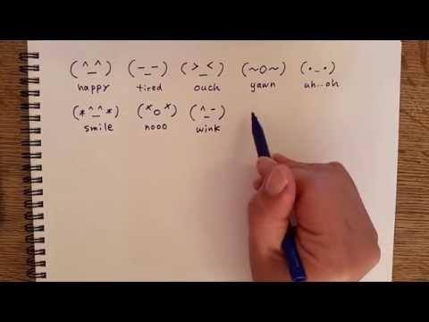 Japanese Emoticons - Handwriting