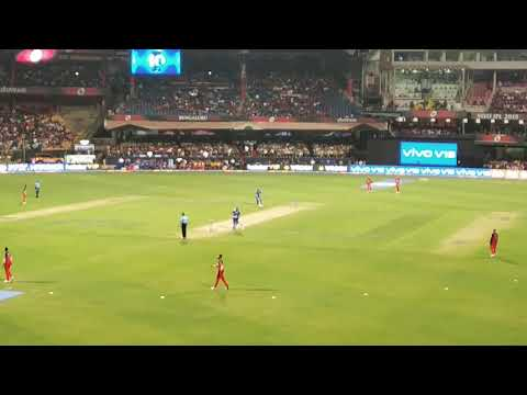 RCB entry to stadium for fielding    IPL 2019    RCB versus MI first over live match