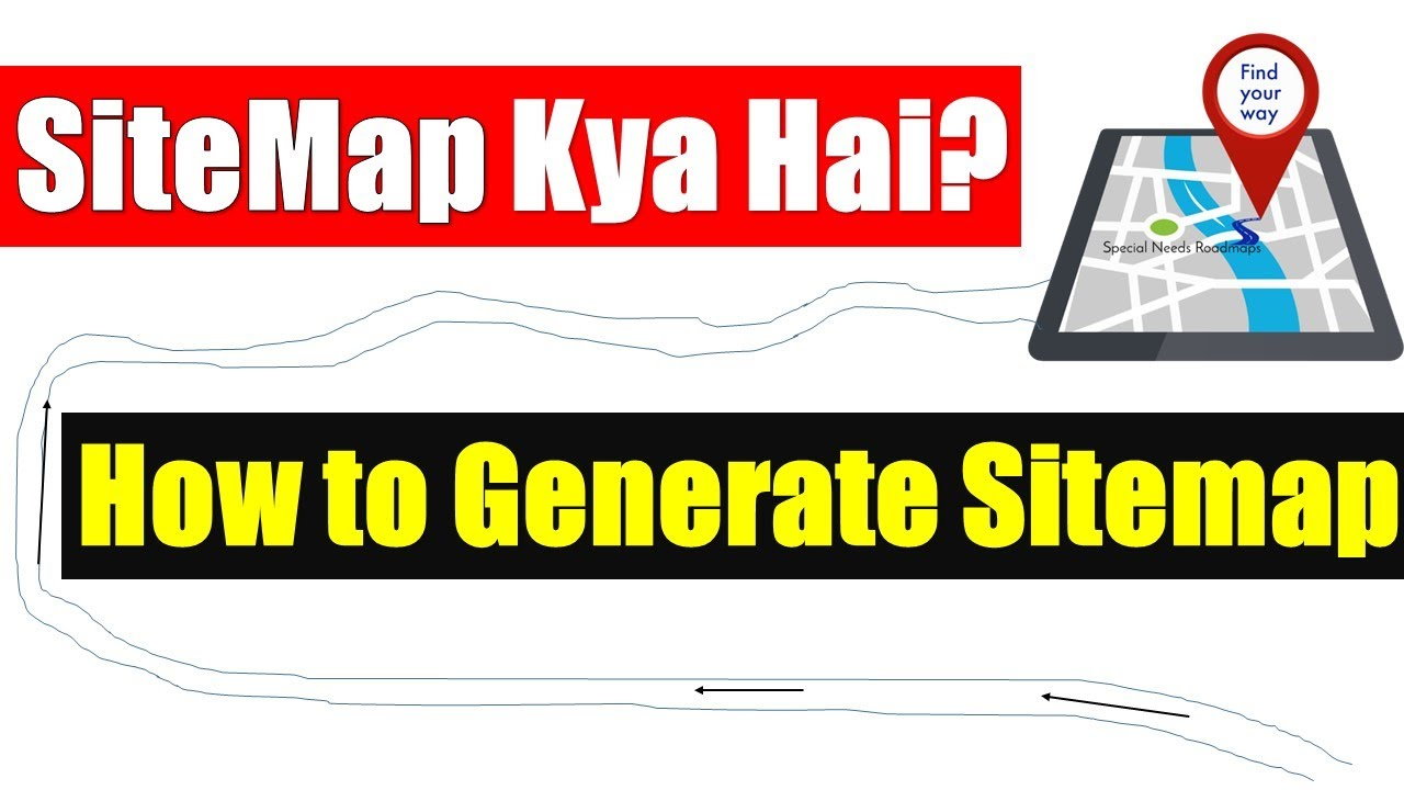 how to generate website sitemap hindi youtube