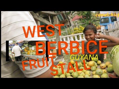 GUYANA | ROAD SIDE FRUIT STALL | WEST COAST BERBICE