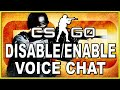 CS:GO | How to Disable/Enable Voice Chat