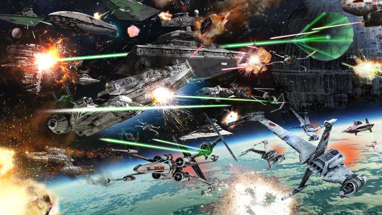 Star Wars Battle Backgrounds: The Battle Of Endor [Dark Version]