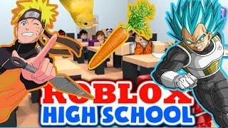 Viaje de Naruto y Vegeta a Roblox HighSchool