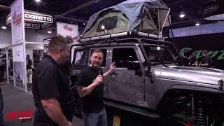 Raptor Series at SEMA 2018, Roof Top Camping Tent w/Ladder, the Voyager Roof Top Tent