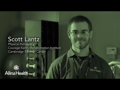 Scott Lantz, physical therapist, Courage Kenny Rehabilitation Institute – Cambridge Medical Center