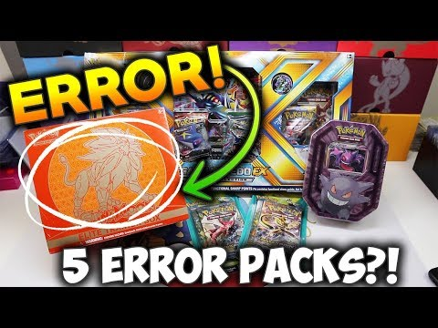 Missing The RARE Cards! Error Pokemon Booster Packs!