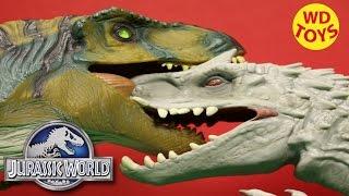 Jurassic World Lego T-Rex vs Lego Indominus Rex Dino Battles, Dinosaurs By WD Toys