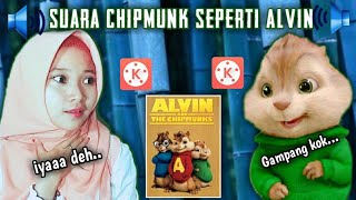 TUTORIAL MERUBAH SUARA DI APLIKASI KINEMASTER ||#CHIPMUNK