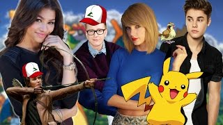 10 Celebrities Who Dominate at Pokémon Go! (IN REAL LIFE) | Hollywire