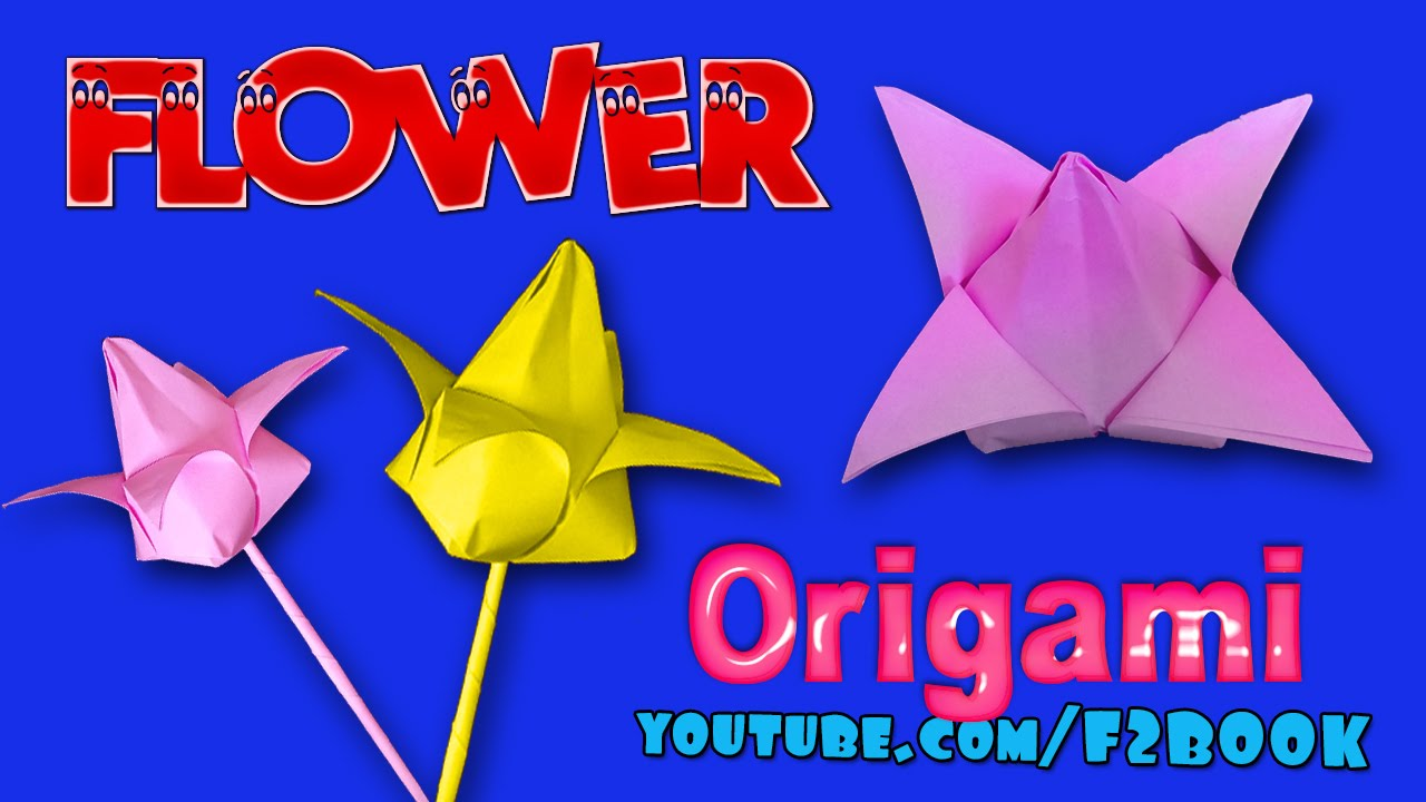 How To Make Paper Flower Origami Instructions Paper Folding