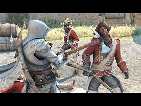 assassin's-creed-3-master-connor-with-ezio`s-outfit-&-naval-axe-rampage-ultra-settings