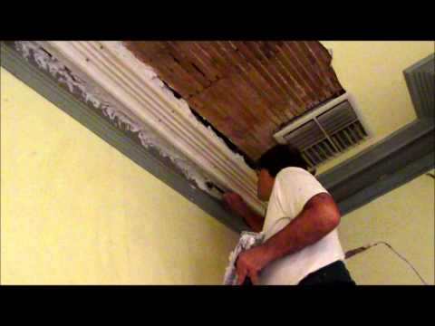 Lath and Plaster Section of Cornice Repair