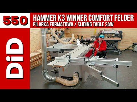 550. Pilarka formatowa Hammer K3 Winner Comfort Felder / Sliding table saw