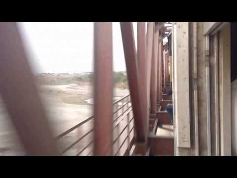 Karakoram Express Crossing Kotri Junction Railway Station and Bridge - Sindh, Pakistan