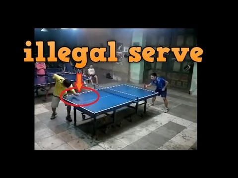 PING PONG ILLEGAL SERVE TRICKS - YouTube