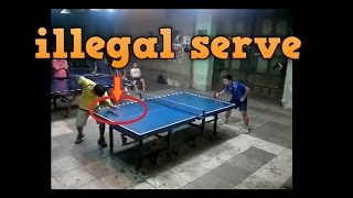 PING PONG ILLEGAL SERVE TRICKS