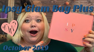 Ipsy Glam Bag Plus Unboxing | October 2019 | Worth How Much?!?