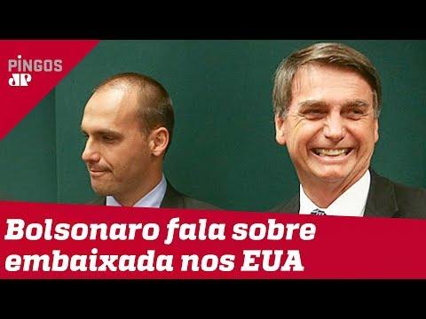 Bolsonaro reforça indicação de Eduardo à embaixada nos EUA