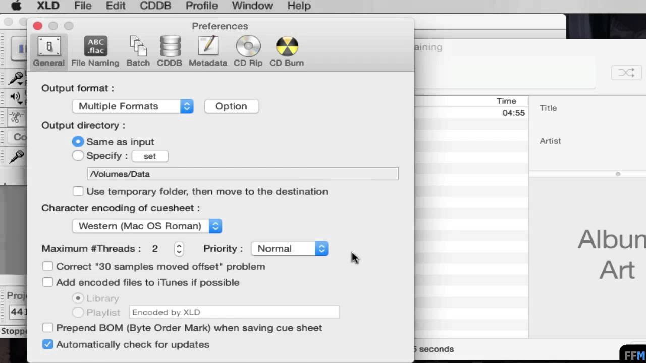 Convert DSF to FLAC,MP3,M4A Free on Mac