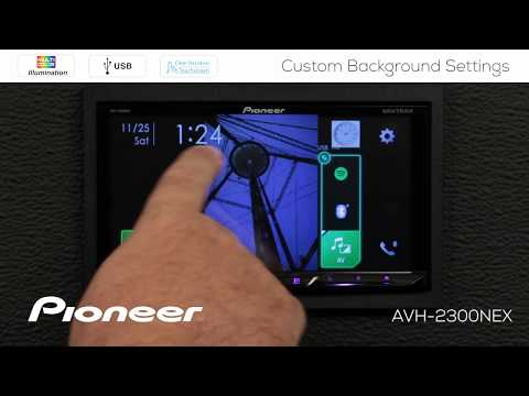 How To - Custom Background Images And Colors On Pioneer AVH-NEX In Dash Receivers 2017