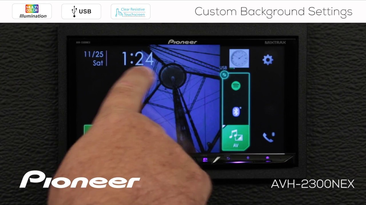 How To Custom Background Images And Colors On Pioneer Avh Nex In Dash Receivers 2017 Youtube