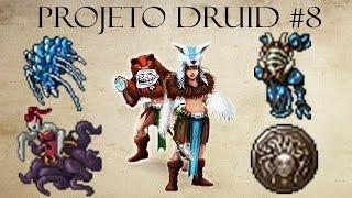 Tibia - Projeto Druid #8 - Crystal Spider , Ursagrodon , Devovorga e Medusa Shield Quest (Troll)